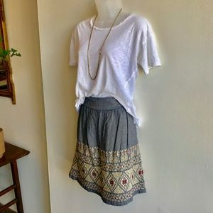 Lucky Brand embroidered Skirt